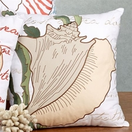 New England Conch Shell Pillow