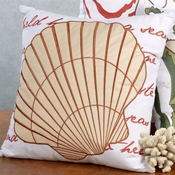 New England Clam Shell Pillow