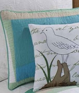 New England Shorebird Pillow
