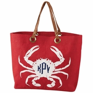 Red Crab Beach Tote