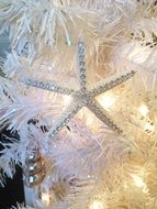 Rhinestone Starfish Ornament