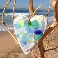 Seaglass Heart