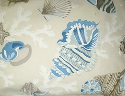 Seashell Shower Curtain Beachcomber