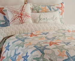 Seaside King Quilt Set