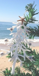 Set of 2 White Coral Tree Ornaments