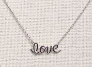 Silver Plated Love Necklace