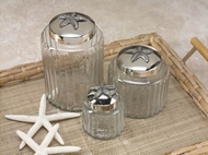 Starfish Glass Jars