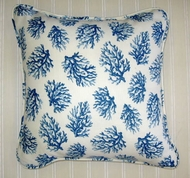 Sun and Shade Pillow  Blue Coral