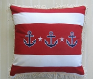 Sunbrella 3 Anchor Pillow