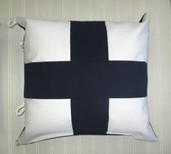 Sunbrella Nautical Flag Pillow Xray Letter X