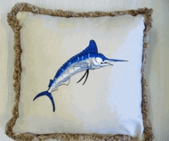 Sunbrella Outdoor Blue Marlin Pillow