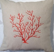 Textured Coral Pillow