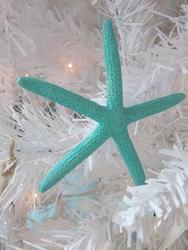 Turquoise Starfish Ornament Set of 3