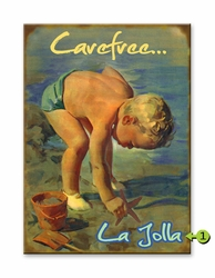 Vintage Little Boy Beach Sign