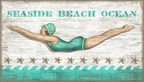 Vintage Seaside Dive Girl Sign