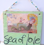 Vintage Style Sea of Love Mermaid sign