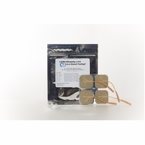 8 PACKS of 4 (32 Total) 1.5 Inch x 1.5 Inch Premium Square Electrode Pads (4 per pack) (20-30 Uses)