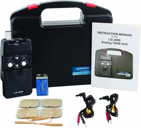 Professional TENS Machine for Pain Relief w/ Carrying Case, Electrodes, and Battery and 3 Customizable Modes