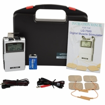 """""""LG-7500"""" Electronic Muscle Stimulator  - DIGITAL Dual Channel Complete Kit"""