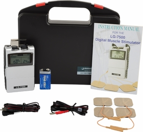 """LG-7500"" Electronic Muscle Stimulator  - DIGITAL Dual Channel Complete Kit with Electrodes (Top Selling Muscle Stimulator)"