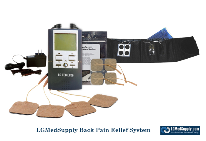 Tens Unit And Back Brace Complete System