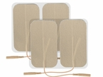 1 PACK 2 x 3.5 Inches Premium Rectangle Electrode Pads (20-30 Uses) - CLICK to Select Quantity Needed (4 per pack)