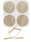 ONE PACK of 4 - 2 Inch Premium Round Electrode Pads (20-30 Uses) - CLICK to Select Quantity Needed (4 per pack)