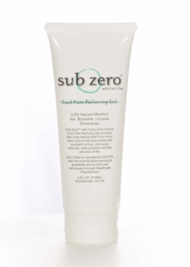 Subzero Pain Relieving Gel - 4 Ounce Tube