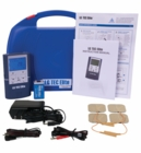(TOP SELLER!) COMBO TENS Unit and Muscle Stimulator with AC Adapter, Battery, Carrying Case, & Electrodes Included (LG-TECELITE)