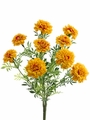 "Set of 6 - 13"" Artificial Marigold Flower Bushes - Non Potted"
