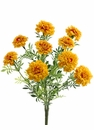 """Set of 6 - 13"""" Artificial Marigold Flower Bushes - Non Potted"""