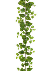 6' Puff Pothos Garland w/ 127 Leaves - Set of 6