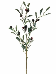 """30"""" - Olive Branch Silk Stems with Artificial Olives - Set of 12"""