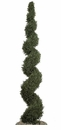 10' Artificial Cypress Spiral Topiary - Non Potted