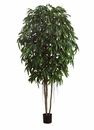 10' Artificial Longifolia Tree with Real Wood Trunks and 1900 Silk Leaves