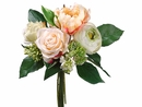"11"" Silk Peony, Rose and Lilac Flower Wedding Bouquet Arrangements - Set of 6"