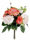 "12"" Artificial Silk Rose Wedding Bouquet Flower Arrangement-Set of 12"