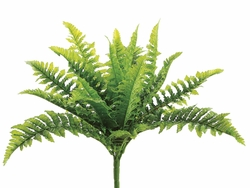 "13""  Real Touch Silk  Boston Fern Bush - Set of 12"