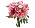 "14"" Artificial Silk Peony Wedding Flower Bouquet Arrangement - Set of 6"