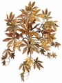 "14"" Glittered Autumn Japanese Maple Hanging Bush with 54 Leaves - Set of 12"
