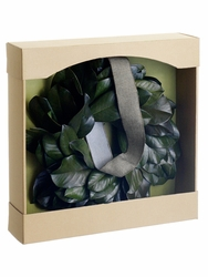 "16.9"" Preserved Magnolia Leaf Wreath"
