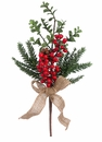 """16"""" Artificial Berry, Pine Cone,  and Pine Needle Pick - Set of 12"""