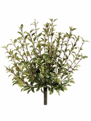 "16""  Oregano Artificial Bushes in Green - Set of 6"
