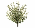 "16"" Oregano Artificial Bushes in Green White Color - Set of 6"