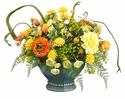 "17"" Artificial Tulip, Daisy, Mum and Ranunculus Arrangement in Container"
