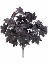 "18"" Artificial Glittered Maple Leaf Bush with 11 Stems - Set of 12"