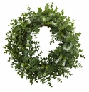 18� Eucalyptus Double Ring Wreath w/Twig Base