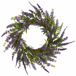 "18"" Artificial Lavender Wreath Arrangement"