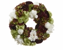 "20"" Artificial Hydrangea, Ranunculus, Peony and Skimmia Flower Wreath"