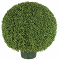 "20"" Artificial Limited UV Protection Outdoor Boxwood Topiary Ball"